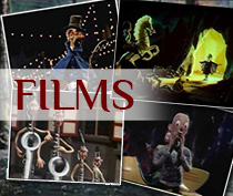 To vintage stopmotion films by Joop Geesink's Dollywood