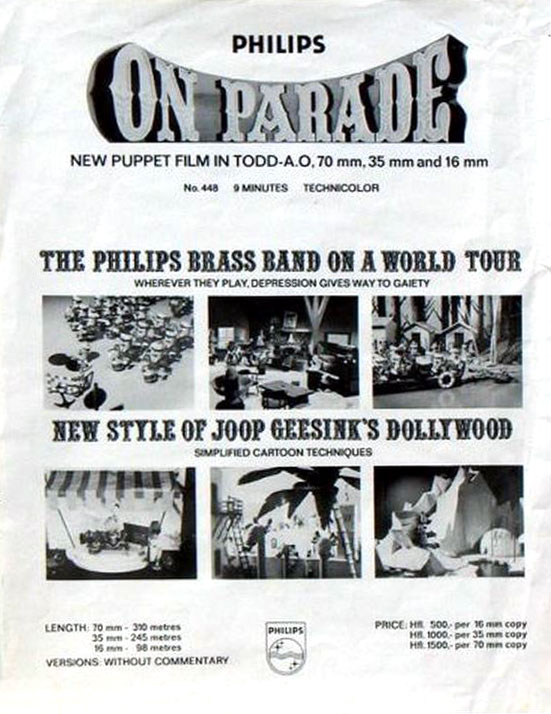 Philips On Parade geadverteerd als